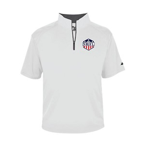 NBJFL Poly Short Sleeve<br>B-Core 1/4 Zip<br>Printed NBJFL CREST Chest