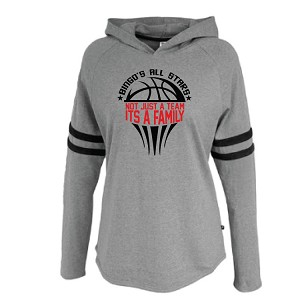 LADIES ONLY<br>Soft Velvet Stripe Hoodie<br>Printed Front<br><b><i>LASTNAME Available</i><b>