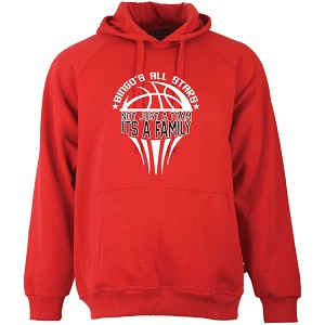 Red Fleece Hoodie<br>Printed Front<br><b><i>LASTNAME Available</i></b>