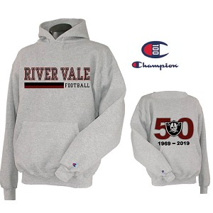 50th Champion Hoodie Printed Front & Back LASTNAME Optioanl