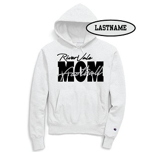Updated Reduced Item!!  RV Football MOM White JERZEES Hoody LASTNAME Optional