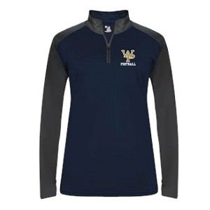 <b>LADIES ONLY</b><br>Tonal 1/4 Zip Workout-Run Around Pullover<br>Embroidered Left Chest<br><b>Last Name Available</b>