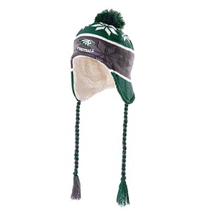 Ridge Pom Tail WInter Hat Embroidered