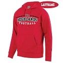 Red Fleece Hoodie<br>Printed Front<br><b><i>PERSONALIZATION AVAILABLE</i></b>
