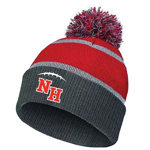 Pom Winter Hat Embroidered