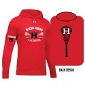 Under Armour<br>Fleece Hoodier<br>2 Color Printed Front and Back<br>LASTNAME and NUMBER Available