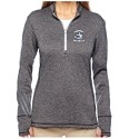 <b>ADIDDAS<br>LADIES ONLY</b><br>3 Stripe Heather Fleece 1/4 Zip<br><b><i>Embroidered</i></b>