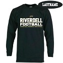 Black Cotton Long Sleeve<br>Printed Front<br><b><i>PERSONALIZATION AVAILABLE</i></b>