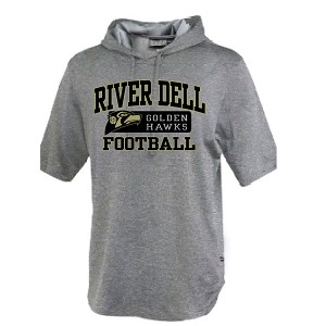<b><i>Football TECH</i></b><br>Short Sleeve Hoodie<br>Printed Front<br><b><i>LASTNAME AVAILABLE</i></b>
