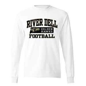 White Cotton Long Sleeve<br>Printed Front<br><b><i>PERSONALIZATION AVAILABLE</i></b>
