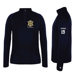 Champion 1/4 Zip EMBROIDERED LASTNAME & Jer. Num Optional