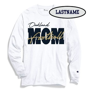 Updated Reduced!! Football MOM Cotton Longsleeve LASTNAME Optional