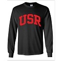 USR Black Cotton Long Sleeve Printed