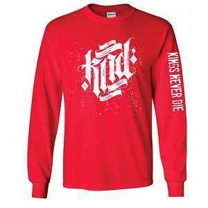 Red Long Sleeve Front & Sleeve Print