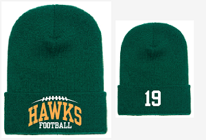New Winter Hat Embroidered JERSEY NUMBER Optional