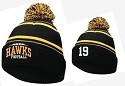 New Winter Knit Pom Pom Hat Embroidered JERSEY NUMBER Optional