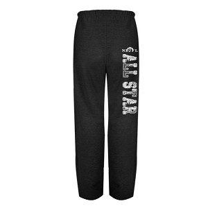 BLACK C2 Fleece FAT Cotton Sweatpants<br>w/Aged Leg Print