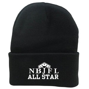 BLACK Knit Hat Embroidered