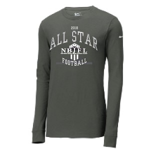 NIKE Charcoal Long Sleeve Adult Sizes Only LASTNAME Optional