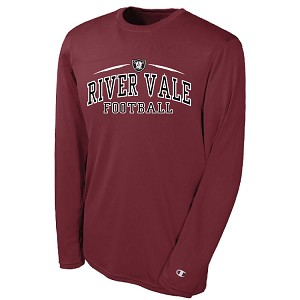 Maroon HIGH PERFORMANCE Long Sleeve<br>Printed Front<br><b><i>LASTNAME AVAILABLE</i></b>