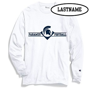 Updated!!  White Long Sleeve Printed LASTNAME Optional