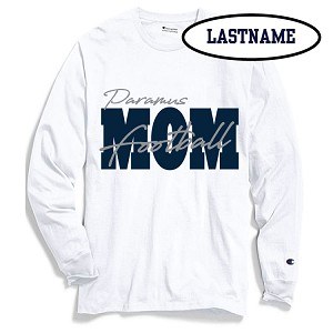 Updated Reduced!! Football MOM Cotton Longsleeve Printed LASTNAME Optional
