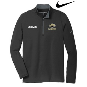 <b>New! NIKE 1/2 ZIP PULLOVER</b><br>Embroidered Left Chest<br><b><i>LAST NAME Optional</i></b>