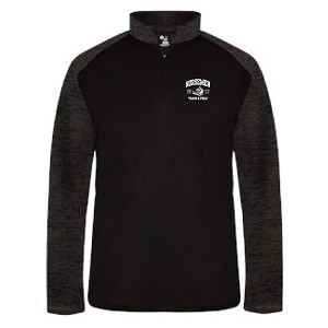<b>WOMANS TRACK & FIELD</b><br>Mens Cut<br>Sport Tonal Blend 1/4 Zip<br>Embroidered Left Chest<br> BACK Printed & Embroidered<br><b>LASTNAME Optional</b>
