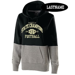 <b><i>LADIES ONLY Hoody</i></b><br>Holloway Raton Fleece Hoodie<br>Printed Property of STATE CHAMPIONS Front Only<br><b><i>LASTNAME Available Back</i></b>