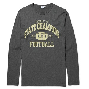 Carbon Cotton Long Sleeve<br>Property of STATE CHAMPIONS Printed Front and Back