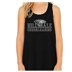 <b><i>GIRLS ONLY</i></b><br>Bella Canvas Racer Tank<br>2 Color Printed Front