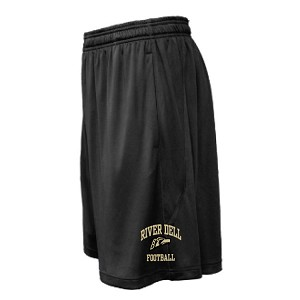 ARC Black Shorts w/Pockets<br>EMBROIDERED THIGH
