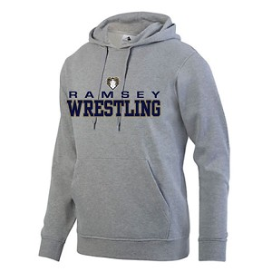 Ath. Grey Fleece Hoodie w/Embroidered RAM & Printed Front LASTNAME Optional