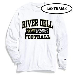 UPDATED! White  Long Sleeve Printed LASTNAME Optional