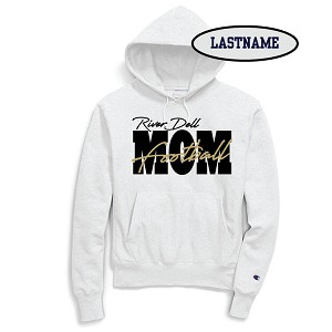 Updated Reduced!! Football MOM Fleece Hoodie Printed LASTNAME Optional