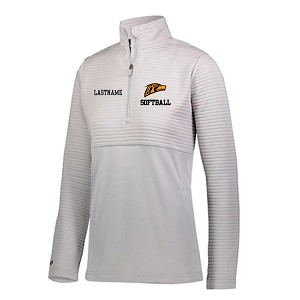 New LADIES ONLY White Ribbed Fleece 1/4 Zip EMBROIDERED w/LASTANME Optional