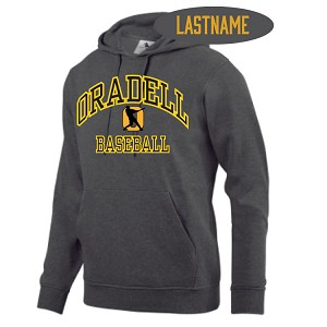 Fleece Graphite Hoodie Printed LASTNAME Optional