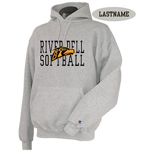 Champion Hoodie Ath Grey w/Printed Front LASTNAME Optional