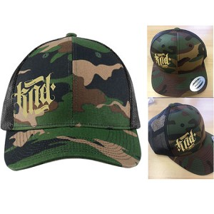 Camo Trucker Hat Embroidered