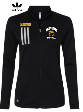 PC Ladies Only Adidas 3 Stripe Double Knit Full Zip Embroidered LASTNAME Optional