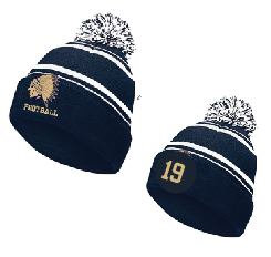 Pom Hat Embroidered JERSEY NUMBER Now Optional