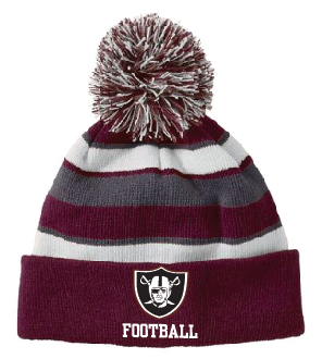 New Winter Item!!!  Pom Pom Winter Hat Embroidered JERSEY NUMBER BACK OPTIONAL